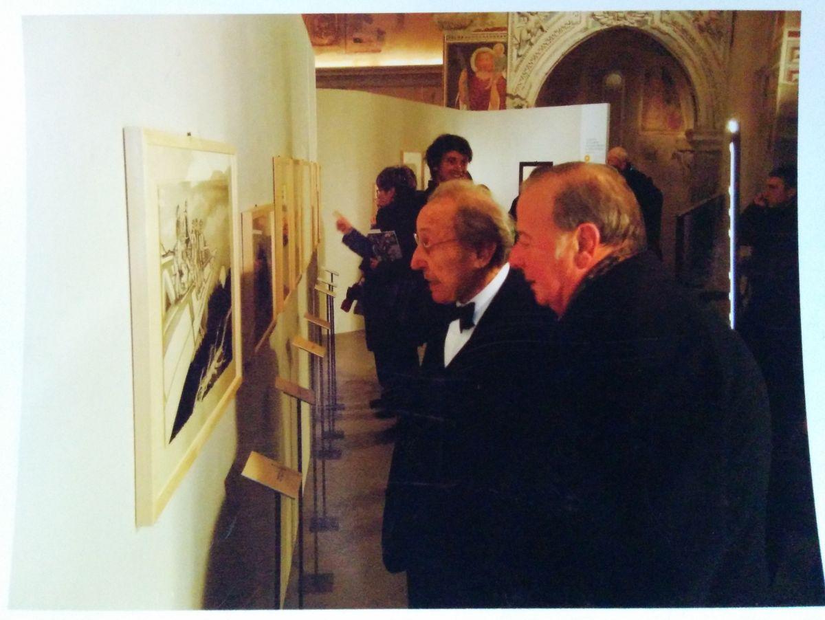 A. M. con il maestro Trento Longaretti